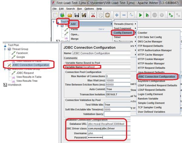 JMeter - Add JDBC Connection Configuration